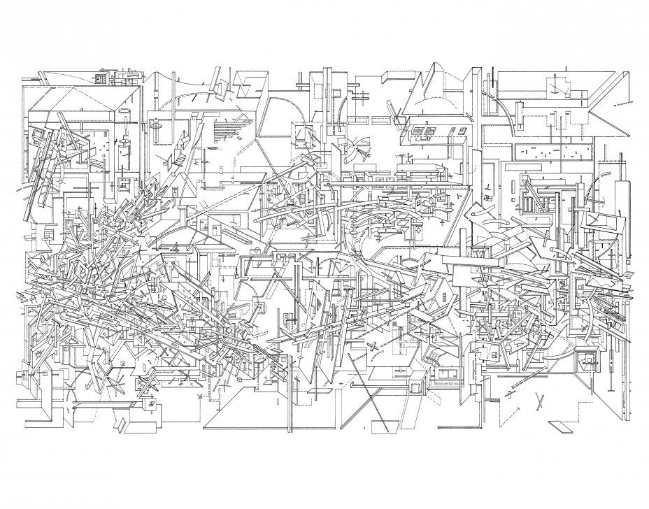 Dance sounds - Micromegas Drawings - Daniel Libeskind