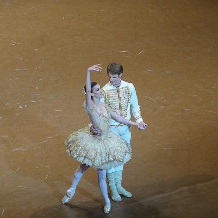 Laura Hecquet et Karl Paquette lors de la première de Paquita
