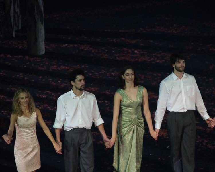 Sandrine Westermann, Stéphane Bullion, Katherine Higgins et Florian Magnenet
