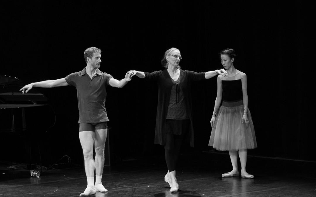 En répétition de la soirée Balanchine – Mozartiana